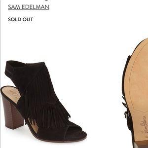 Sam Edelman Elaine Fringe Block Heel Sandal Size 7